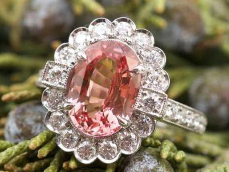 Orangish Pink Sapphire